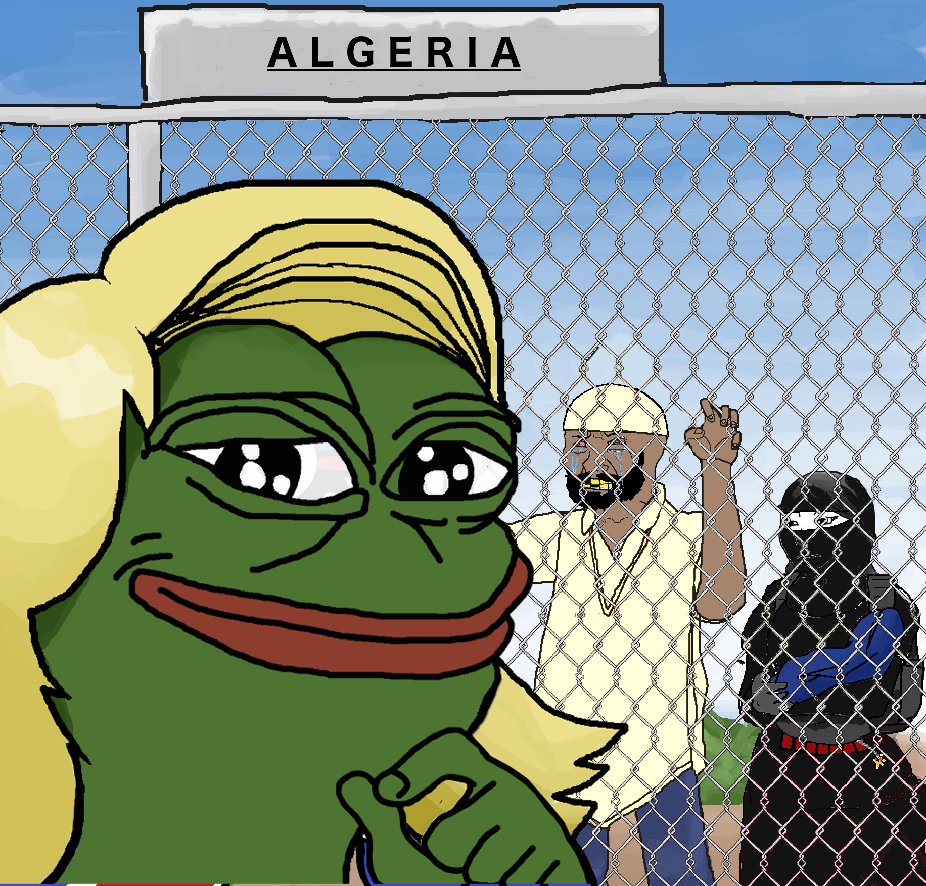 """We're gonna build a wall, and Algeria will pay for it"""