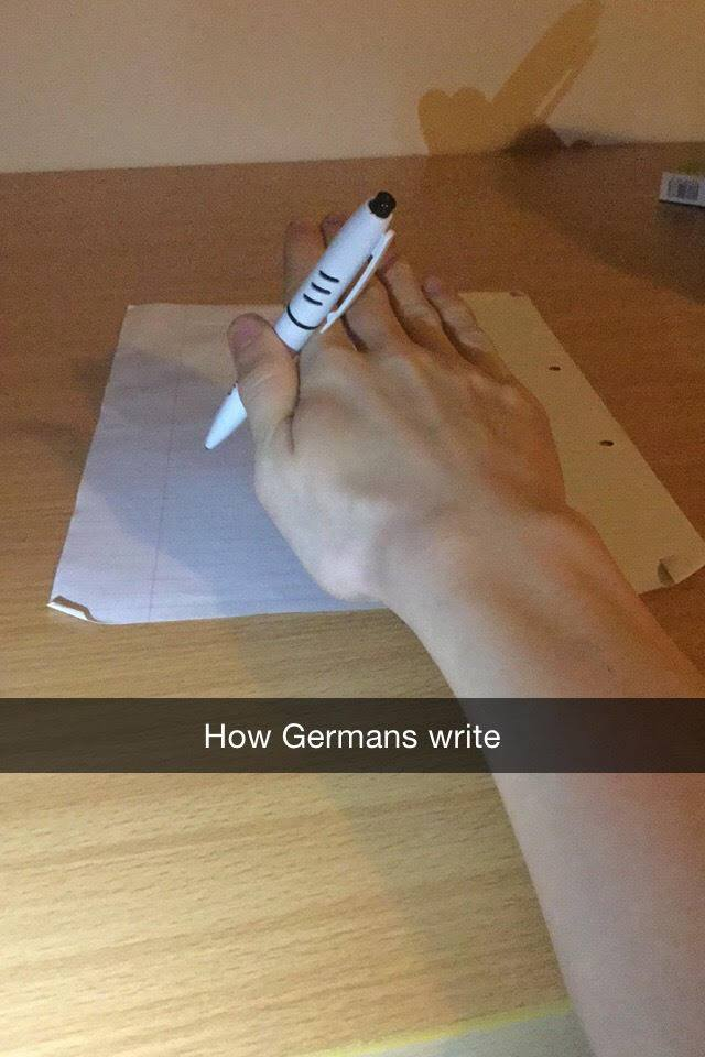 How Germans write
