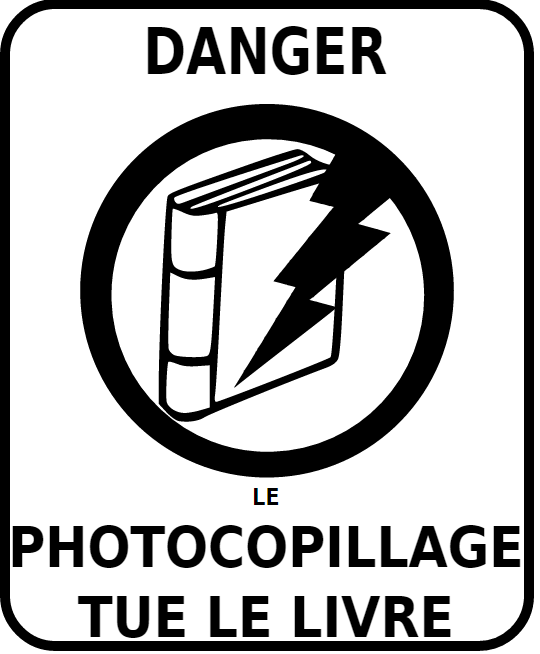Le photocopillage tue le livre