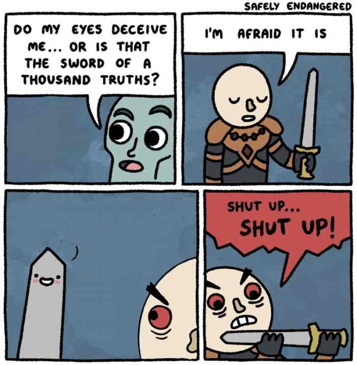 The sword of a thousand truths