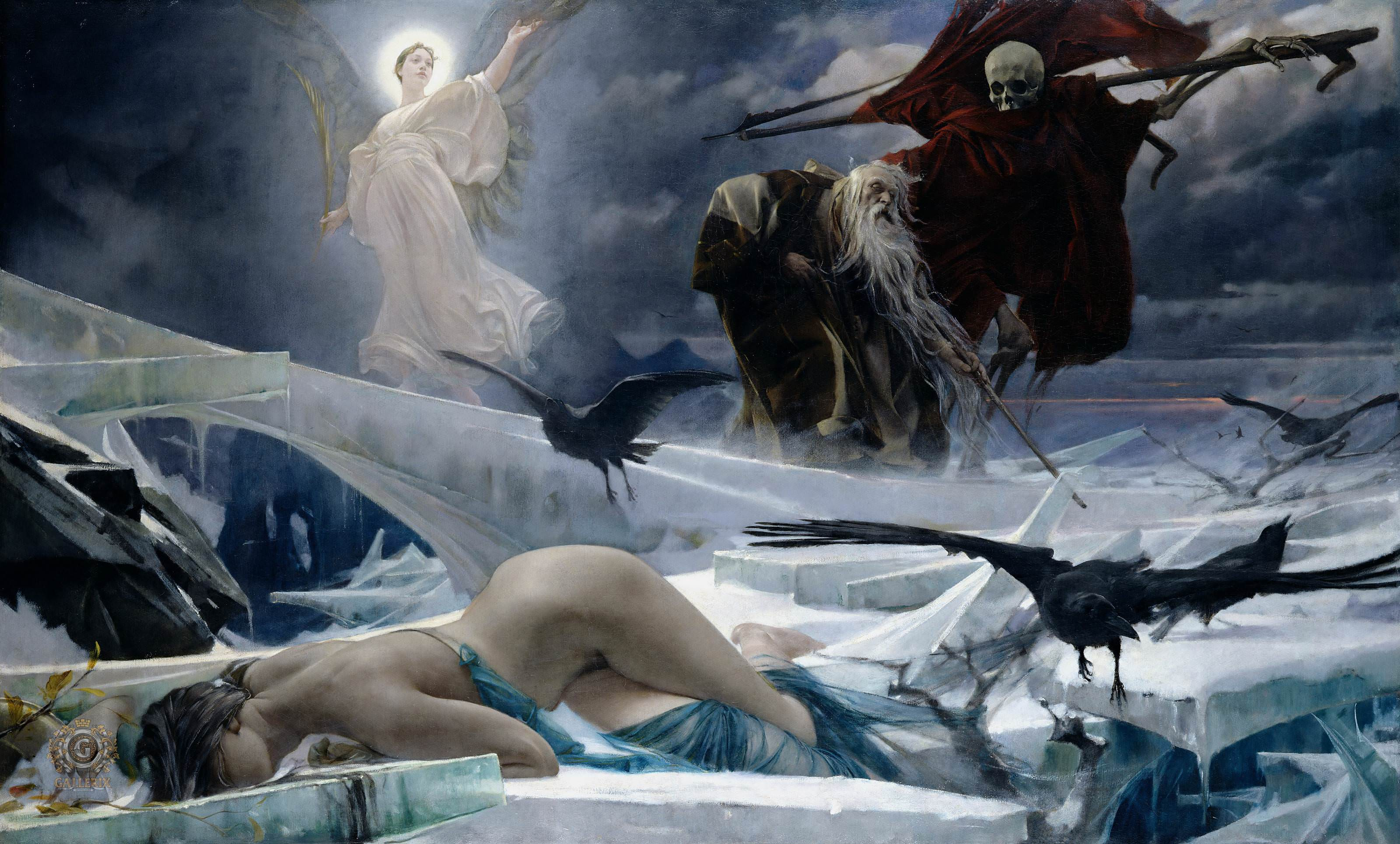 Adolph Hirémy-Hirschl | Ahasuerus at the End of the World | 1888