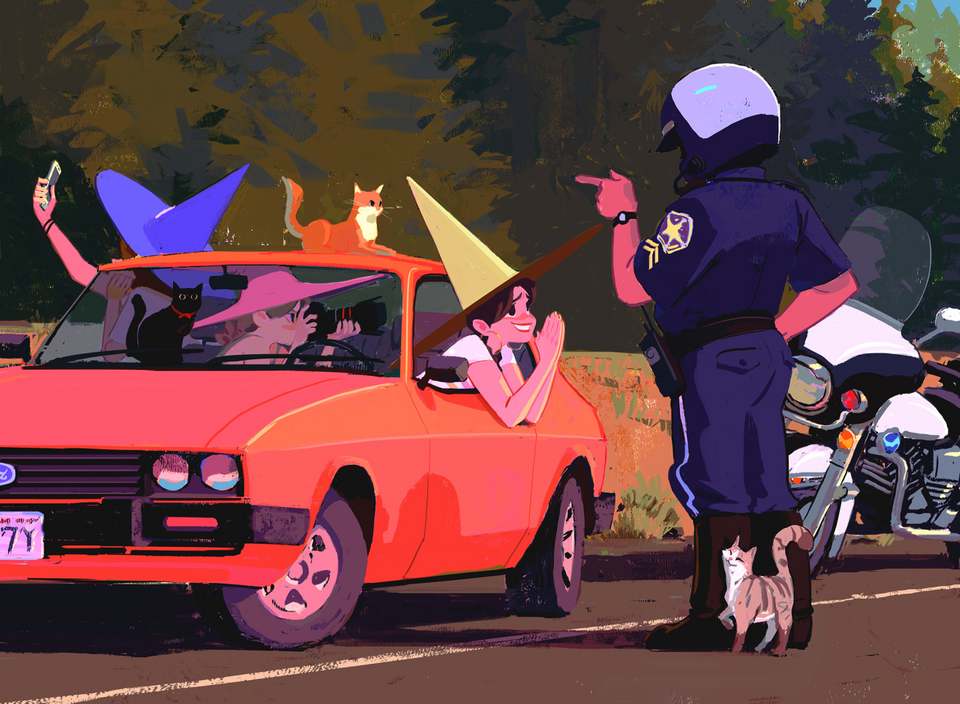 Modern Witches get Pulled Over, Woon, Digital