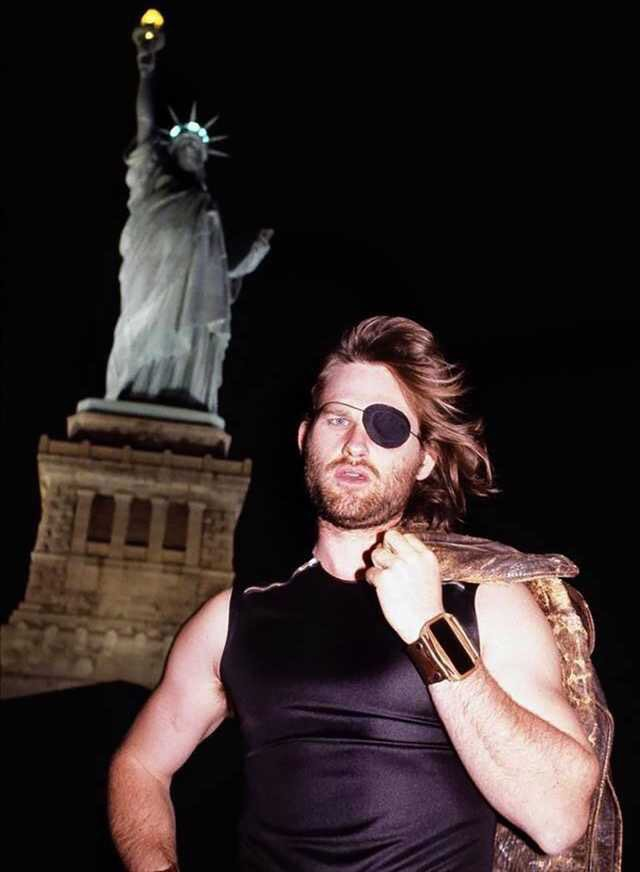 "Kurt Russell while filming ""Escape From New York"" (1981)"