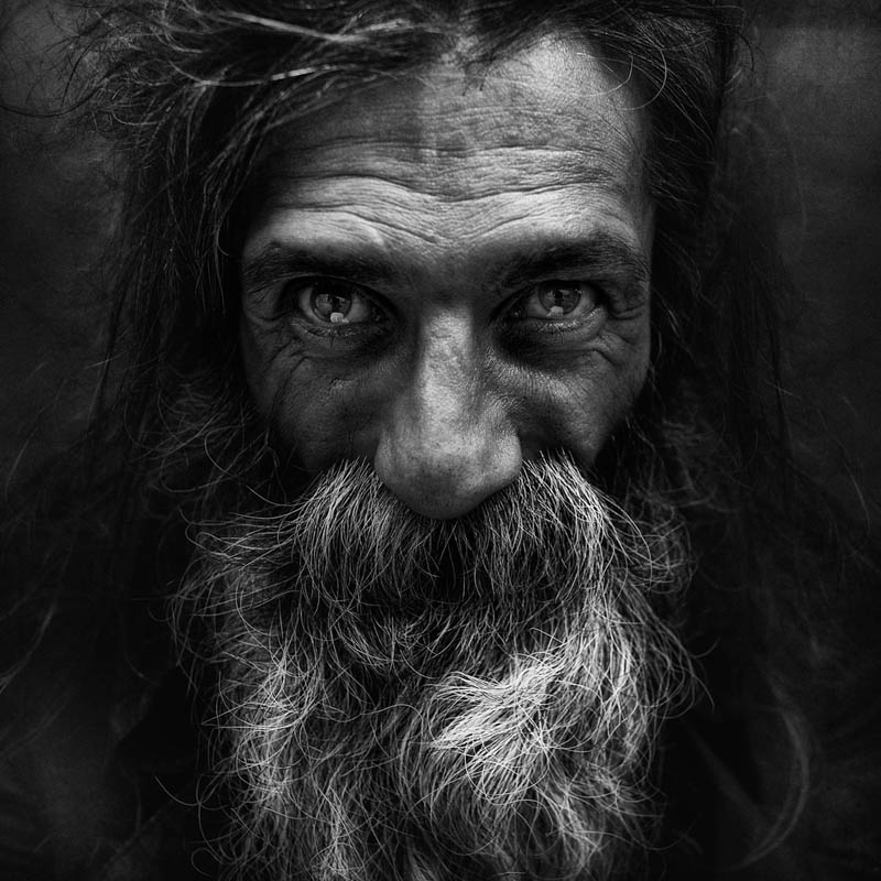 Portraits de sans-abri par Lee Jeffries