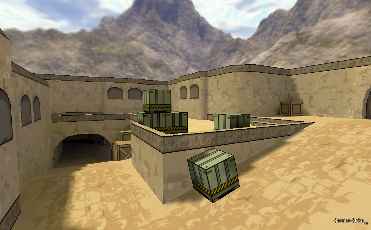 Map dust2 réel.
