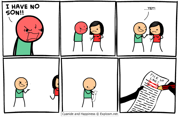 [Cyanide&Happiness] Pick-up lines.