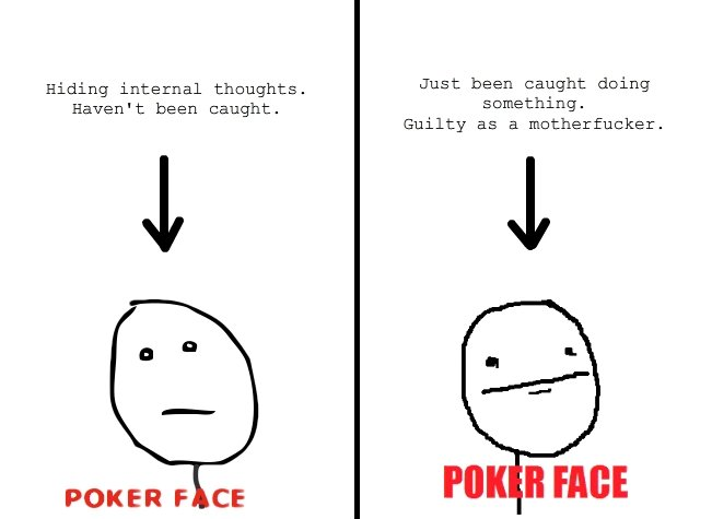 what is poker face
