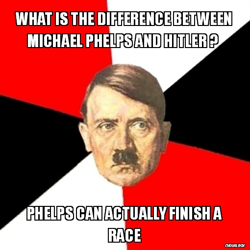 What is the difference between Michael Phelps and Hitler ?
