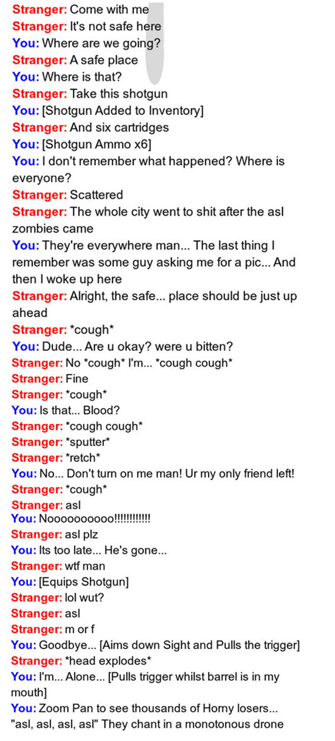 Omegle Zombie.