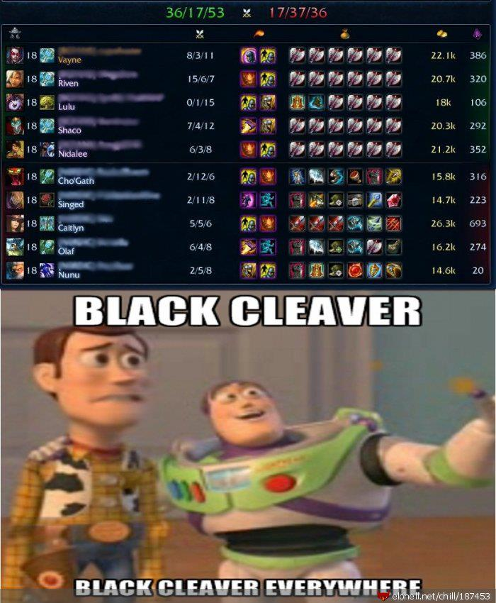 LOL lvl Blackcleaver