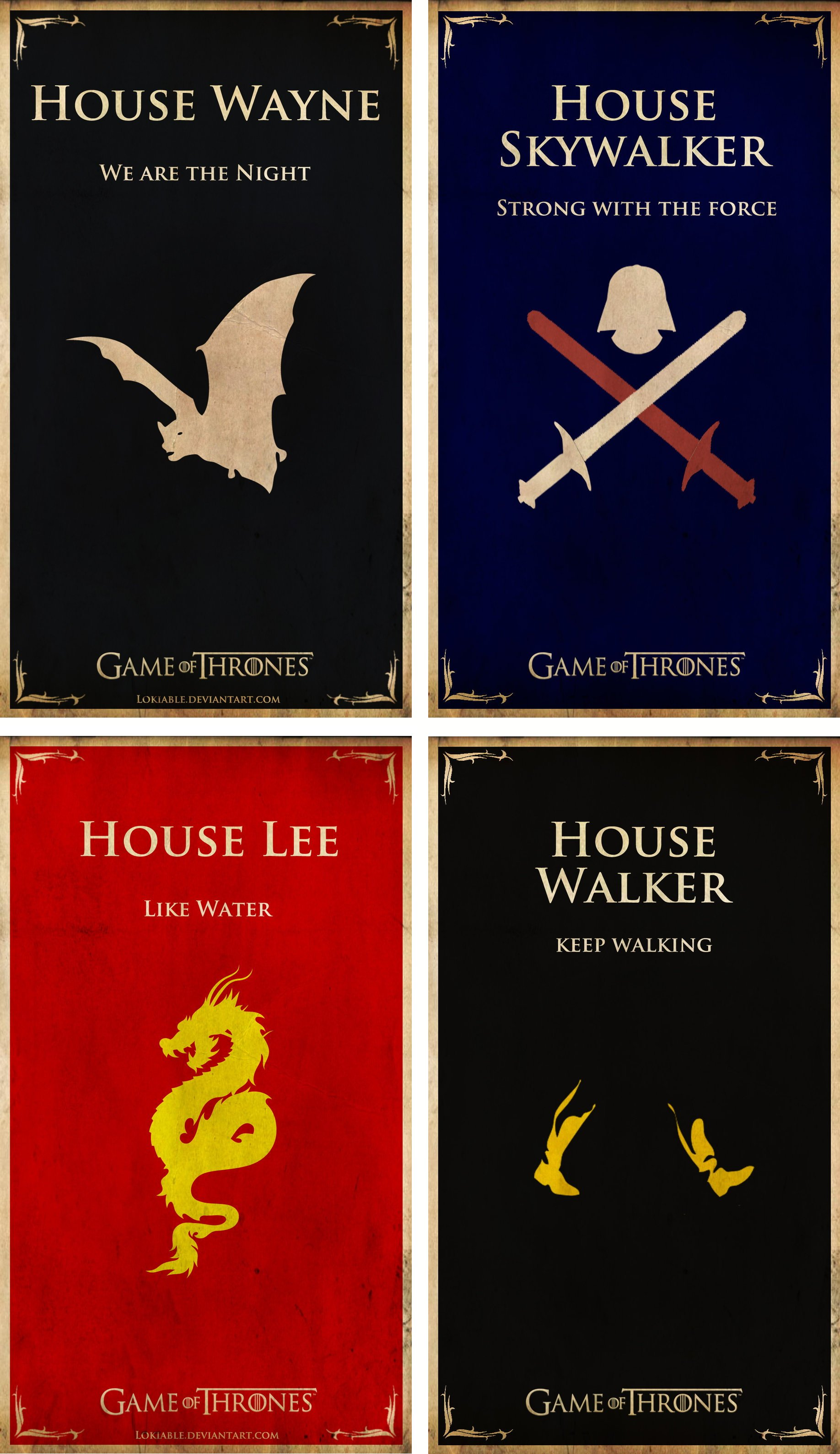 House Wayne | Skywalker | Lee | Walker