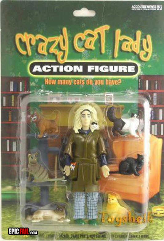 Toy crazy cat lady...