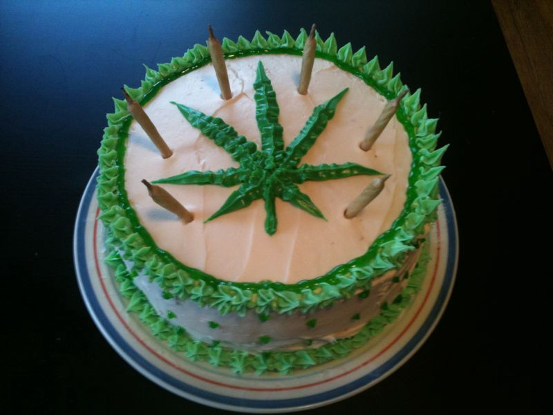 weed birthday cake space cake 1240